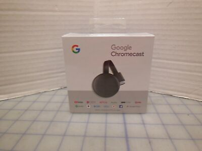 910 Google Chromecast New Sealed Box Streaming NC2-6A5 Netflix Hulu YouTube Spo