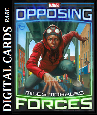 Topps Marvel Collect Card Trader Opposing Forces Miles Morales Vs Hammerhead