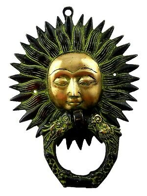 Lord Sun Shape Vintage Antique Style Handmade Brass Door Knocker Wall Home Decor