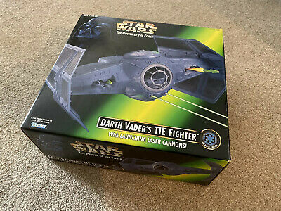Star Wars Power Of The Force POTF DARTH VADER'S TIE FIGHTER KENNER with Box
