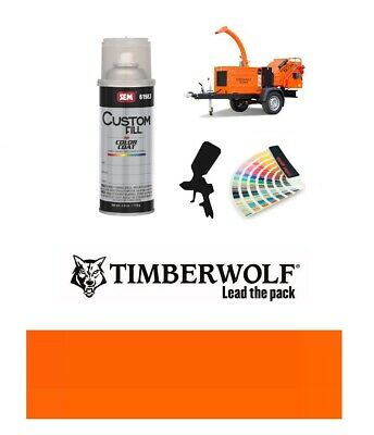 Timberwolf Wood Chipper Orange Paint High Endurance Enamel Paint 400ml Aerosol