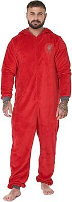 Mens Official Football LIVERPOOL Club Fleece Dressing Gown/Robe S- XL