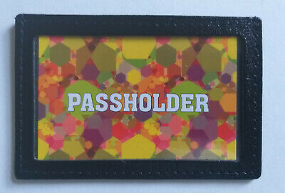 PURE Leather Bus Pass travel card Wallet Holder UK MADE
