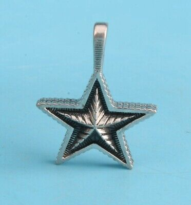 Vintage China 925 Silver Pendant Statue Stars Handmade Mascot Collection Gift
