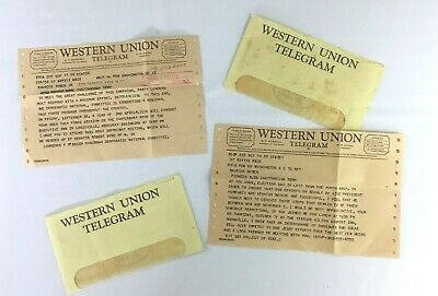 Western Union Telegrams Democratic National Committee 1968 Presidential Election
