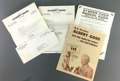Albert Gore Sr US Senate Election 1970 Signed Letters Democrat Chattanooga TN