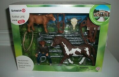 Team Roping with cowboy 41418  strong  Schleich Anywhere a Playground