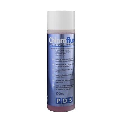PDS Chloroflour Mouth Rinse with Flouride 250mL