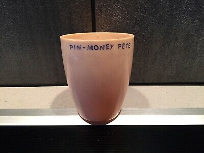 Vintage 1950s Bottom Half Pin Money Pete Coin Bank (Handpainted)