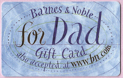 BARNES & NOBLE Collectible No Value Gift Card - For Dad - Buy 6 Ship FREE