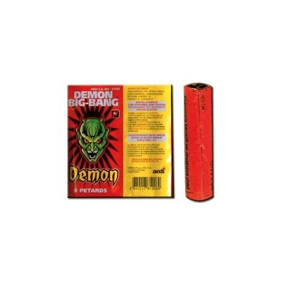 Lot de 12 petard demon big bang ( bison2 ) - petards a meches - feu d'artifices
