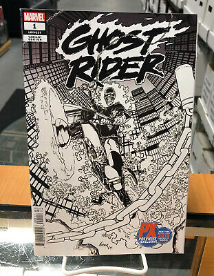 Ghost Rider 1 2019 Nycc Px Exclusive Sketch B&W Variant