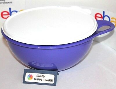Tupperware Bowl Thatsa 12 Cup for Mixing or Serving in Purple with White Seal