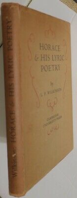 2 Scholarly HC Books,Horace Poetry & Satires & Epistles,Analysis,Notes & Booklet
