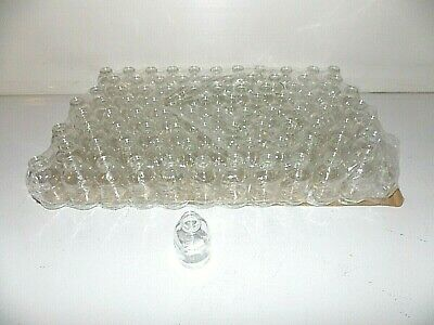 Lot of 96 New Wheaton clear glass serum bottles 30ml each no cap # 223743 hobby