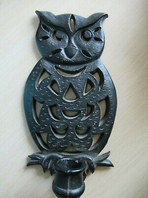 Cast Iron Candle Wall Sconce Owl Metal Bird Wall-Hanging