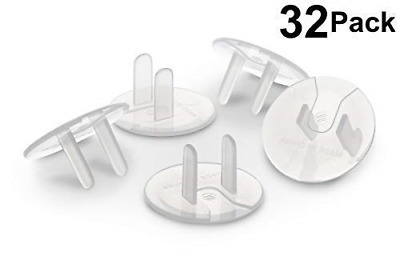 Outlet Plug Covers 32 Count Clear Child Proof Electrical Protector Safety Caps