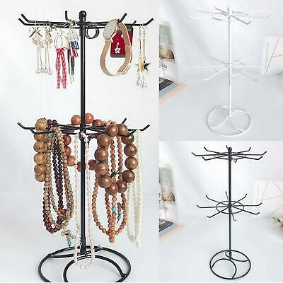 Metal Necklace Jewelry Rotating Earring Bracelet Display Stand Holder Home Decor
