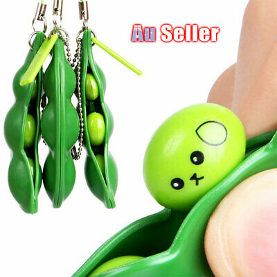 Anti Stress Squeeze Pendant Toy Pokebean Squishy Bean Fidget Gadget Key ring