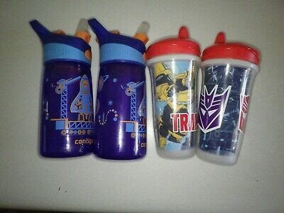 lot of 4 : Contigo Water Bottles and Sippy Cups