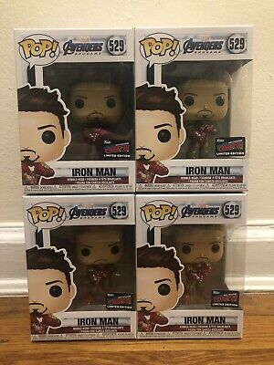 Funko Pop! Avengers Endgame Iron Man Gauntlet #529 2019 Nycc Official Sticker!