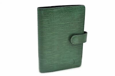 Authentic Louis Vuitton Epi Agenda PM Day Planner Cover Green LV 83861