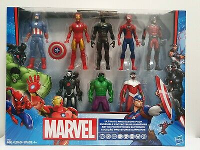 "Marvel Ultimate Protector Pack 8 Action Figure Set 6"" Marvel Avengers Hasbro New"