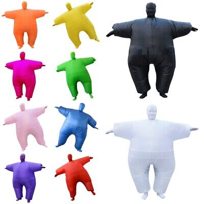 Inflatable Fancy Chub Fat Masked Suit Blow Up Halloween Party Costume Xmas Gifts