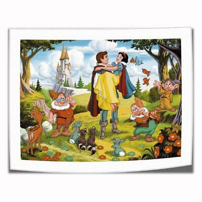 """16""""x22""""Disney Snow White Paintings HD Print on Canva Home Decor Wall Art Picture"""