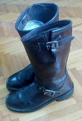 Mens Harley Davidson Brown Leather Boots Size 9.5