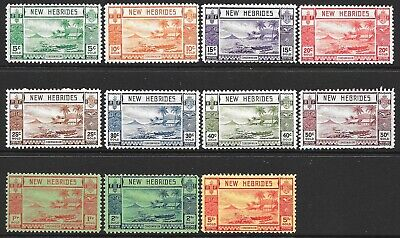 New Hebrides: 1938 English definitive set to 5f (11 stamps), MH