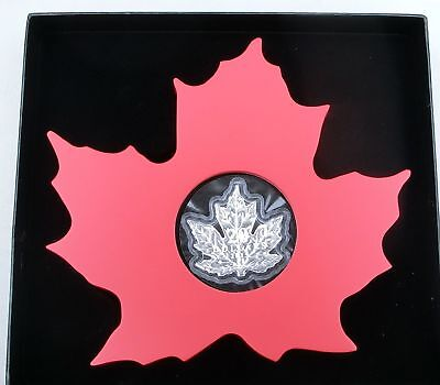 Kanada / Canada 20 Dollars 2015 Cut Out Maple Leaf 1 oz Ag / Silber PP / proof