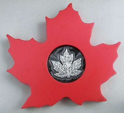 Kanada / Canada 20 Dollars 2015 Cut Out Maple Leaf 1 oz Ag / Silber PP lose