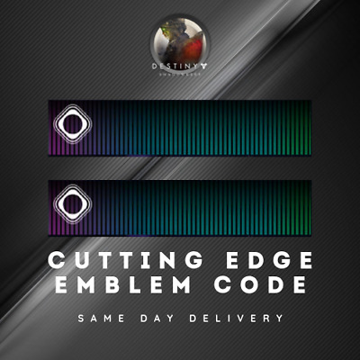 Destiny 2 Exclusive Cutting Edge Emblem [Pc, Xbox, Ps4]  Same Day Delivery