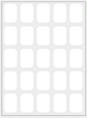 350 Small White Sticky Labels 18 x 12mm Price Stickers Tags Blank Self Adhesive