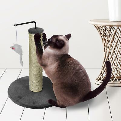 Pet Cat Kitten Round Sisal Scratching Pole Post Soft Mouse Toy Claw Healthcare