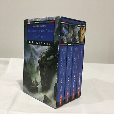 The Lord of the Rings & The Hobbit by J. R. R. Tolkien 4 Books Box Set Slipcase