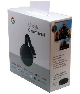 Google Chromecast 3rd Generation Streaming Media Player New