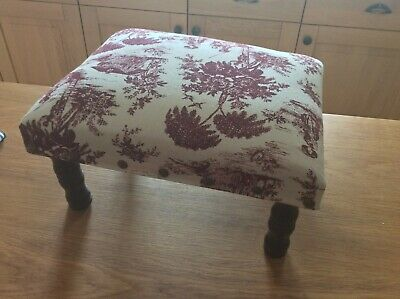 Footstool with  Legs -  Tapestry