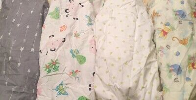 Lot Unisex Fitted Crib Sheets Standard Cotton Baby Boy Girl Toddler Bed Circo