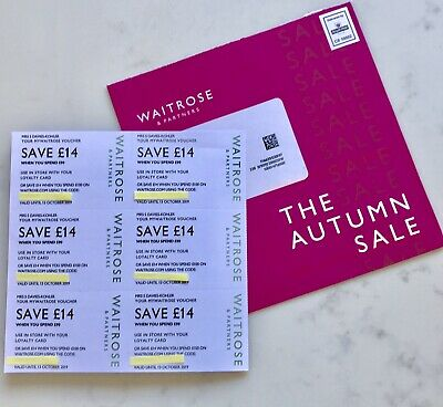 ❤️WOW Waitrose saving coupons/vouchers, valid for 1 month 👍🍽 Worth £84