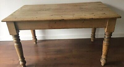 Mid 1800's Rustic, Country,  Pine 4Plank, Farmhouse, Kitchen Table
