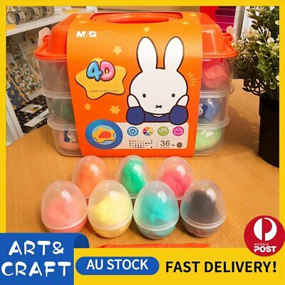 NEW 4D Air Dry Clay Modeling Clay 36 Colour Pack DIY Craft Gift Soft Super Light