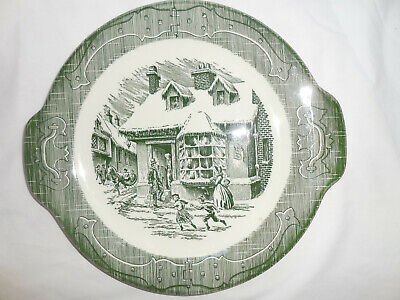 Royal China Old Curiosity Shop Green Tab Plate 10 1/2""