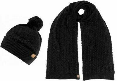 Boardman Finley Mens Beanie Bobble Hat with Matching Scarf