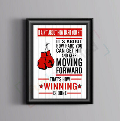 Rocky Balboa Motivational Film Quote Art Poster Inspirational Print Gym Workout