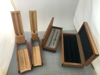Judd's Lot of 4 Very Nice Wood Pen Cases