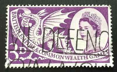 Great Britain stamps - British Empire & Commonwealth Games  3d  1958