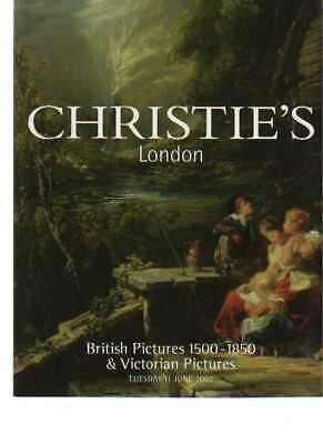 Christies 2002 British Pictures 1500 - 1850 & Victorian Pictures