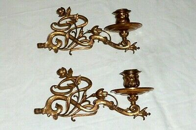 2 Old Art Nouveau Piano Candlestick Candlestick Candle Holder Wall Lights Piano